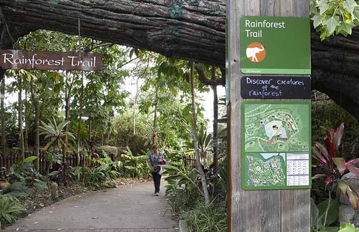 塔瑞噶野生动物园(Taronga Zoo)是澳洲最古老的动物园之一,成立于1916年。占地75英亩,饲养了400多种动物,主要以澳洲特有的野生动物为主。饲养了澳洲代表性动物如无尾熊、袋鼠、袋熊(Wombat)、鸭嘴兽、Dingo狗、有塔斯马尼亚恶魔(Tasmanian devil)之称的袋獾、澳洲鸟类,其它还有黑猩猩、企鹅、水獭、犀牛、海豹、浣熊、蜥蜴爬虫类等多种动物。          source:egd.